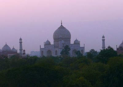 Taj sunset from rooftop