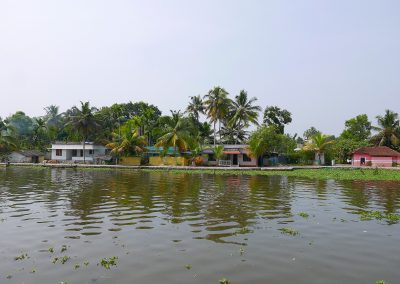 A Village on the Allepey backwaters Kerala India