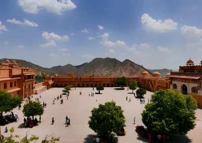 Amer Fort from above Jaipur