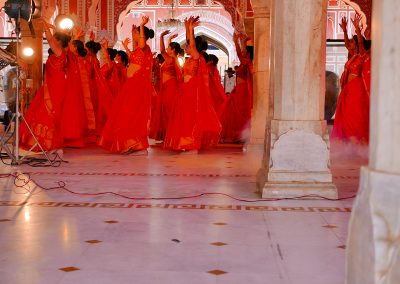 Bollywood hands up City Palace Jaipur The pink city