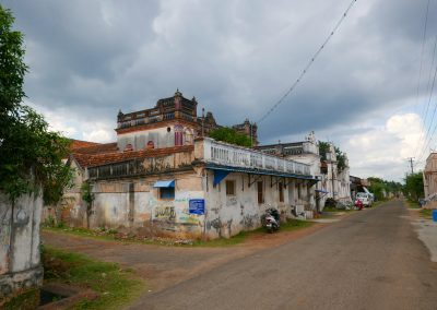 House on a village street in Chettinad