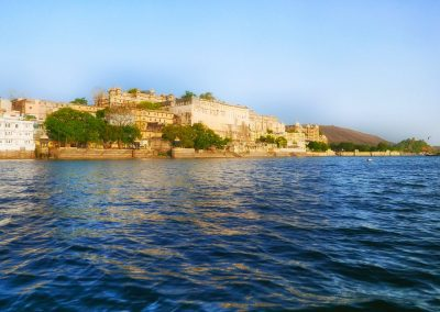 City Palace from lake Udaipur