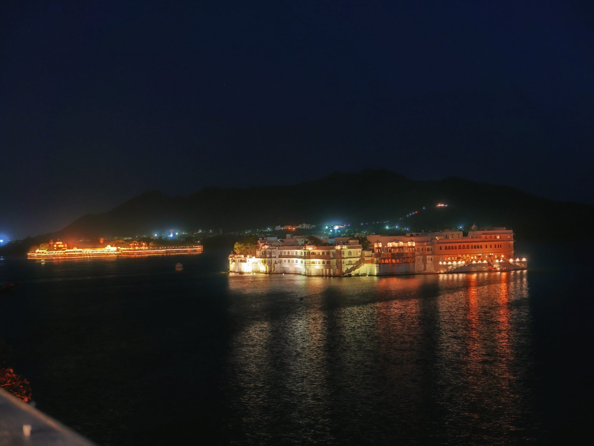 City Palace lit up Udaipur