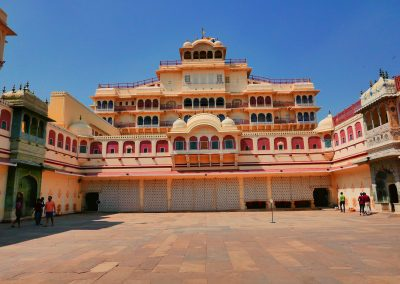 City pallace inner courtyard Jaipur The pink city