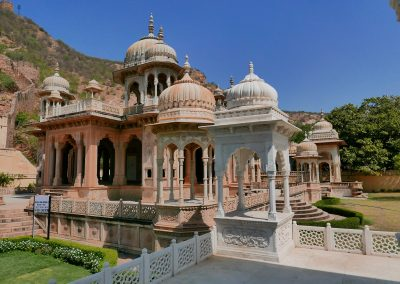 Gaitore Memorials of Kings Jaipur and ramparts