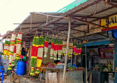 Garland for sale in a Chettinad village
