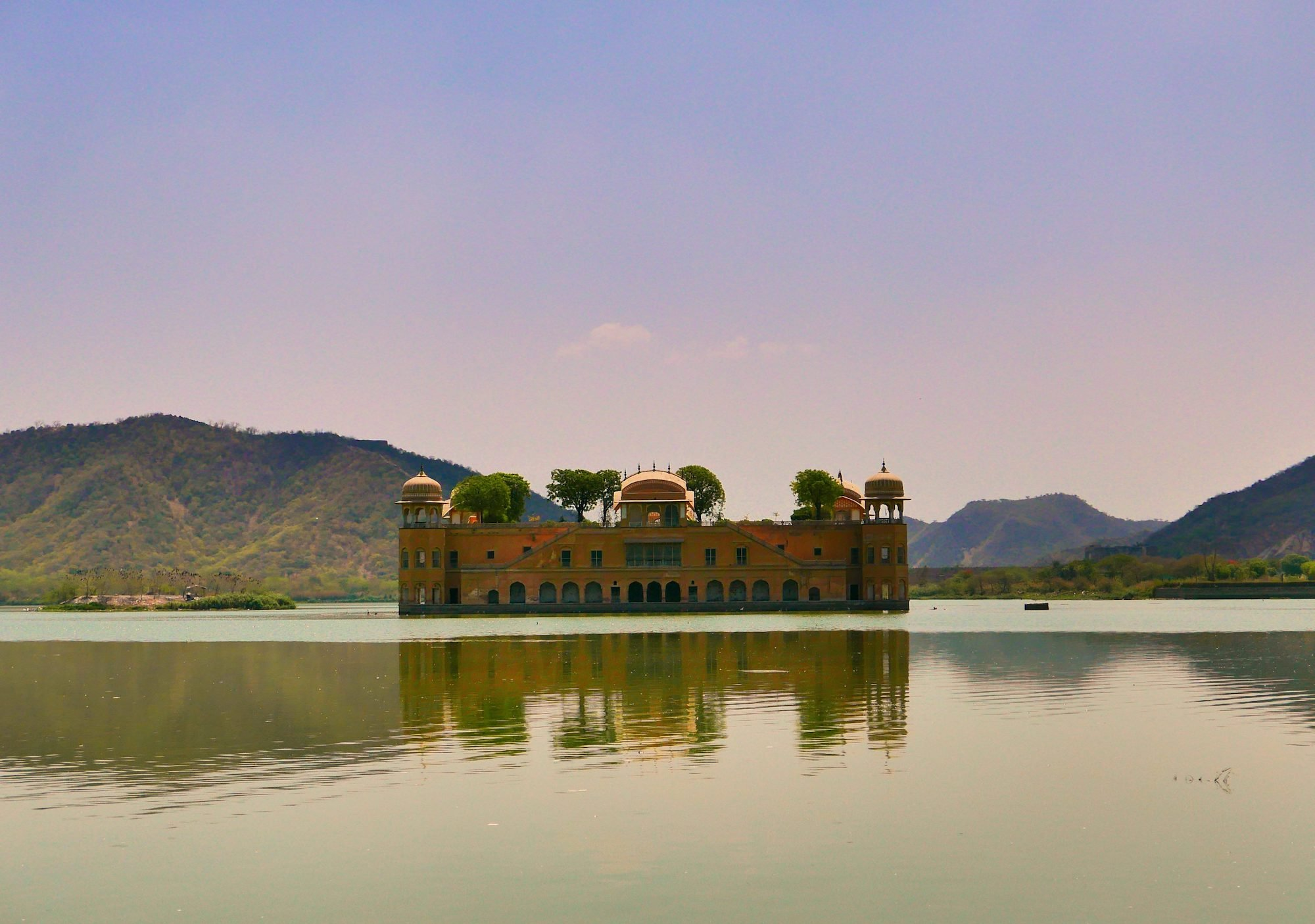 Jal Mahal and hills Jaipur