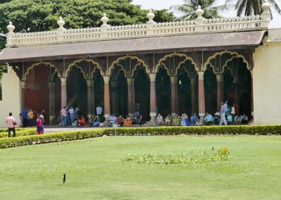 Front view of Tippu's summer palace Bangalore