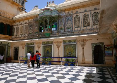 Marble fretwork City Palace Udaipur