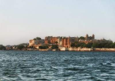 Palace from the lake Udaipur