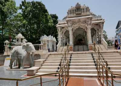 Sri Dharmanath Shwetambar Jain Temple steps and statues Bangalore