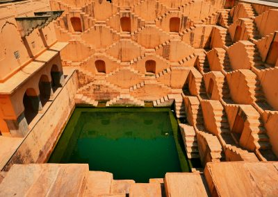 Stepwell from top Amer Jaipur