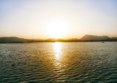 Sunset on lake Pichola Udaipur Two Frogs Travel