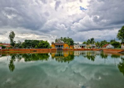 Pool by a temple in Chettinad India