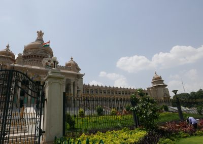 Gateway to Vidhana Soudha Government building Bangalore India