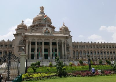 The Vidhana Soudha government building in Bangalore India