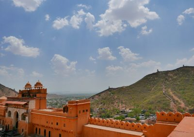 View of city from Amber Fort Jaipur