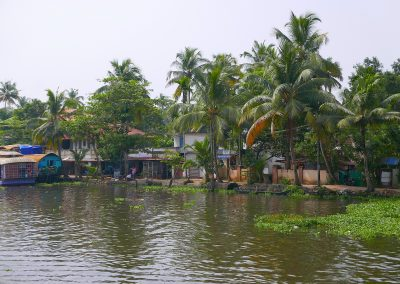Village on the Allepey backwaters India
