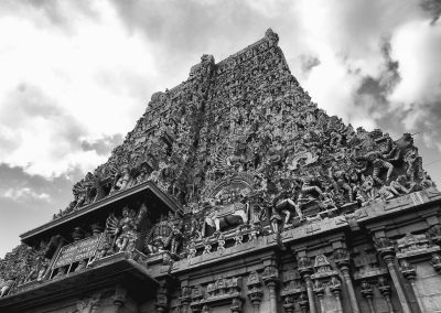 Madurai The South tower bw