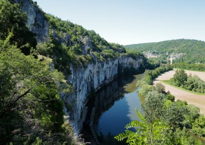 St Cirq Lapopie Lot gorge view 1