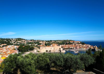 Collioure from windmill