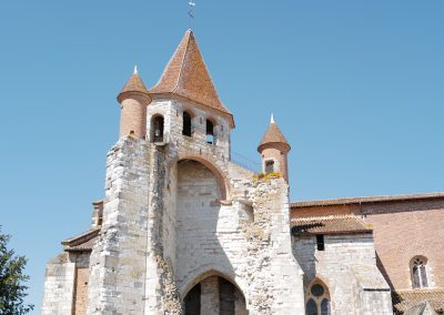 Tower of the church St Pierre Auvillar